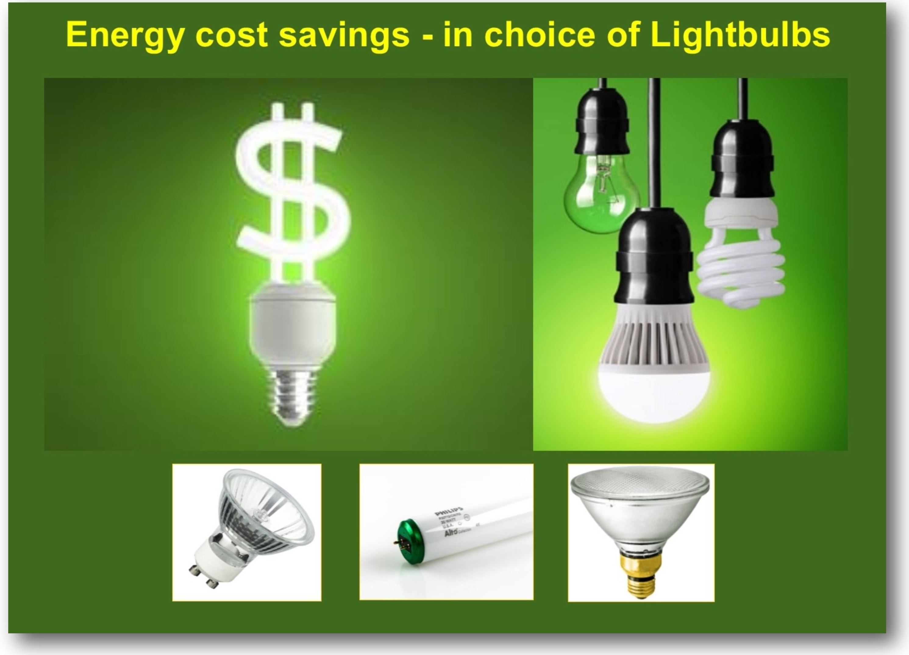 Save money with choice of Light Bulbs