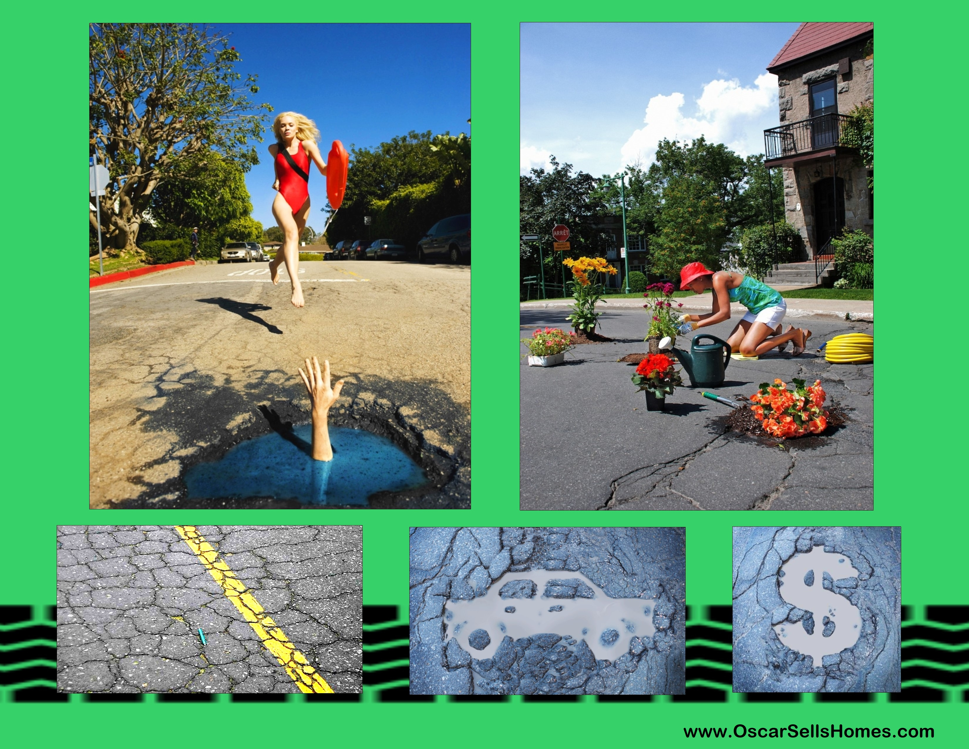 Street Potholes do affect value of your home