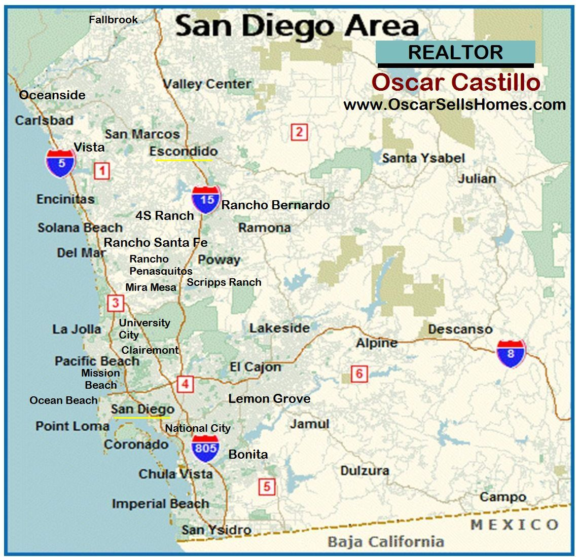 Relocation REALTOR San Diego - Oscar Castillo (858) 775-1057