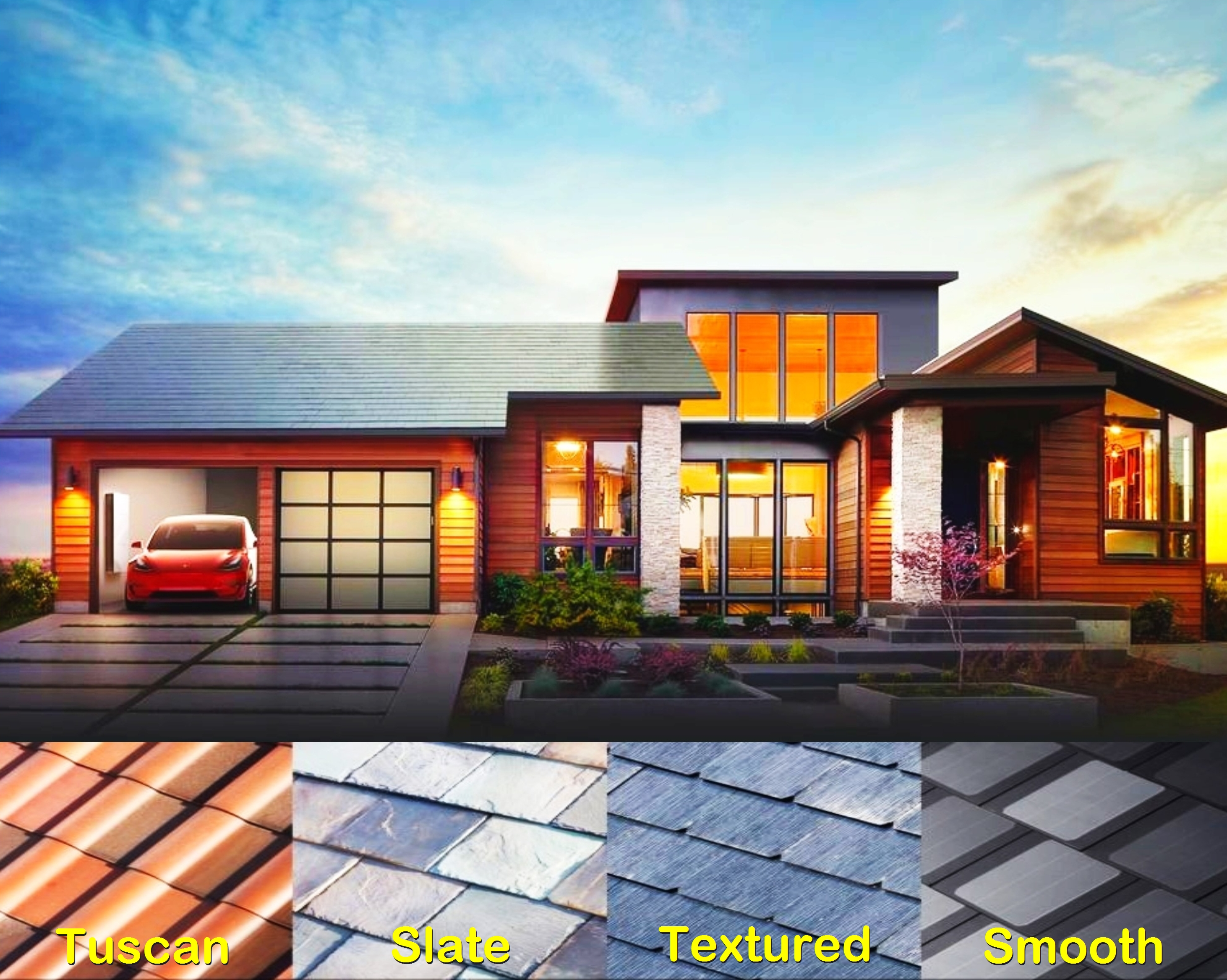 Solar powered roof tiles